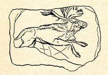 Running Elk (cave Painting)