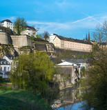 Fototapeta Do pokoju - View of Luxembourg historical city center