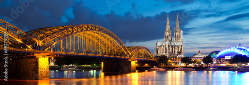 Cologne city panorama