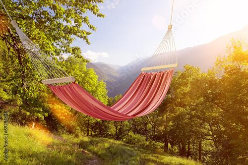Fotografía  Hängematte im Sommer in den Alpen