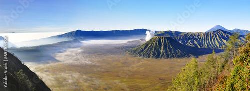 Volcano Mount Bromo at sunrise, East Java, Indonesia, Asia