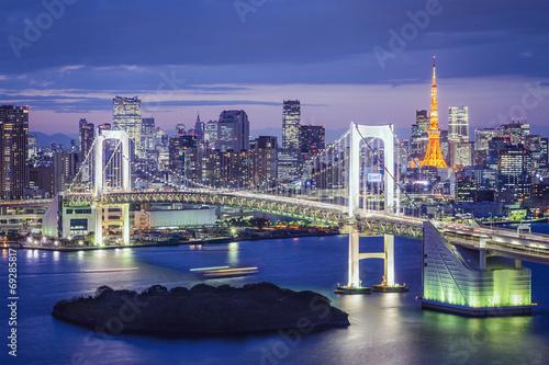 Fototapety, obrazy: Tokyo, Japan at Tokyo Bay