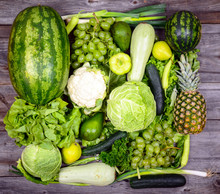 Huge Group Of Fresh Green Frui...