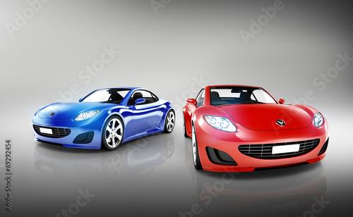 3D Luxury Sports Car Set