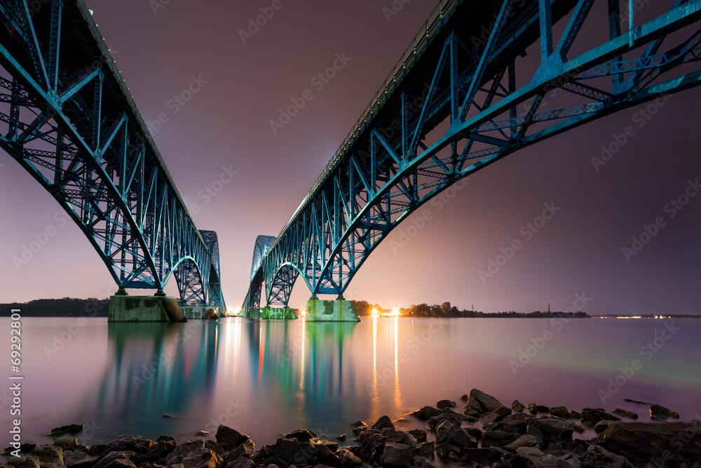 Fototapety, obrazy: South Grand Island Bridge spanning Niagara river