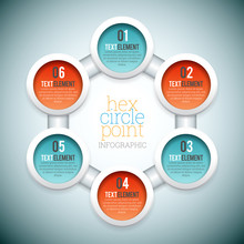 Hex Circle Point Infographic