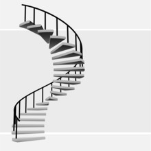 Isolated Circular Staircase Wi...