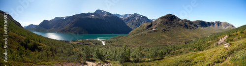 Photo sur Toile Europe du Nord Besseggen Ridge in Jotunheimen National Park, Norway