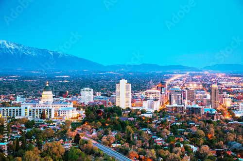 Salt Lake City overview Wallpaper Mural