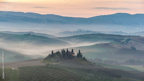 Fotografie, Obraz  Night landscape of the famous places in Tuscany, the Belvedere