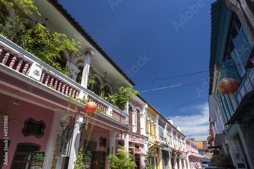Fotografie, Obraz  Sino-Portuguese Architecture influenced building in Phuket.