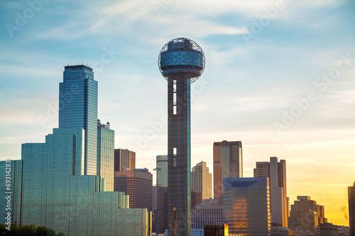 Fotografía Dallas cityscape in the morning