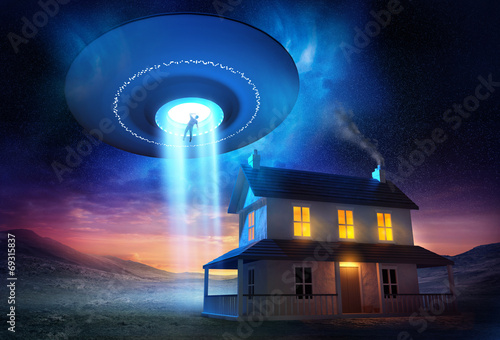 Canvas Prints UFO From Outer Space