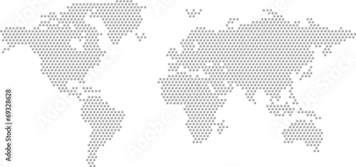 Dotted Map of the World radial fill