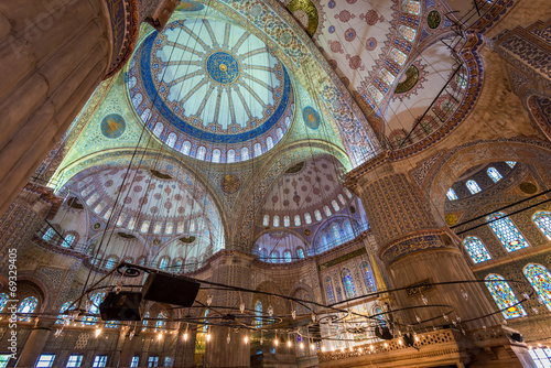 Inside the Blue Mosque Poster