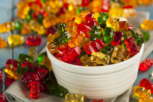 Garden Poster Candy Colorful Fruity Gummy Bears