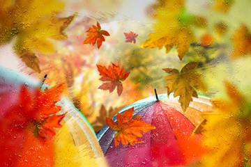 Panel Szklany Podświetlane Woda Krople Herbst