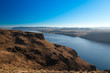 Canyon of Columbia river, (view from Wanapum Vista view point),