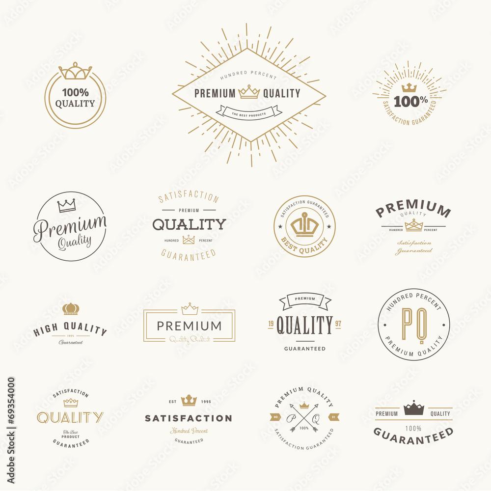 Fototapeta Set of premium quality stickers and elements