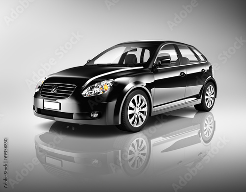 trojwymiarowy-ksztalt-czarny-sedan