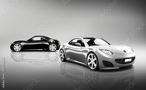 obraz-3d-luksusowych-samochodow-sportowych
