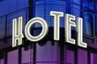 hotel leuchtschrift