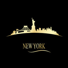 Luxury Golden New York Skyline