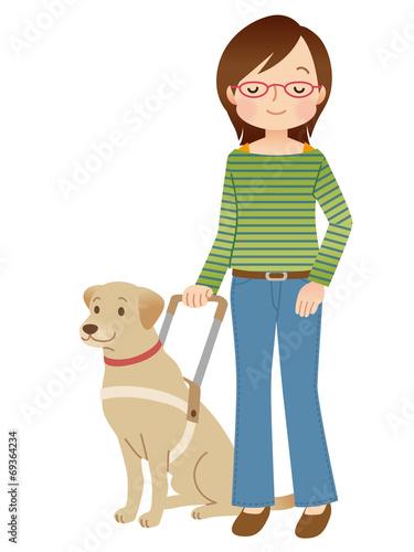 Valokuva  盲導犬 視覚障害者