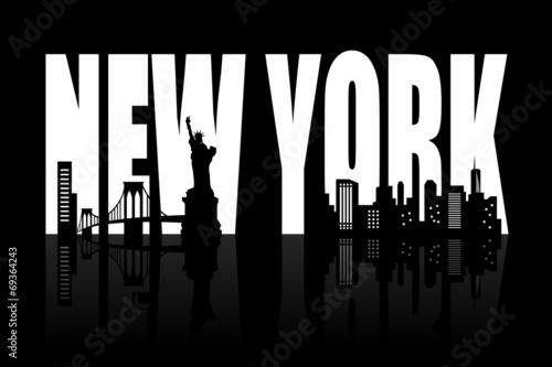 Plakaty czarno białe  new-york-skyline