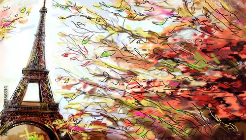 wieza-eiffla-jesienia-kolorowe-liscie
