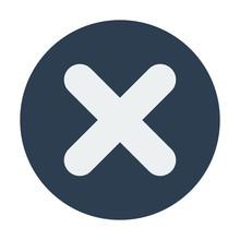 Single Flat Close Or Delete Icon.