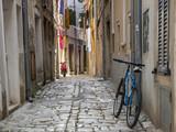 Wąska ulica Rovinj, Istria, Chorwacja - 69376495