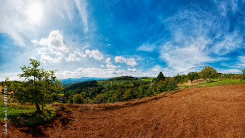 Fotografiet  Le colline di Ovada - Panorama