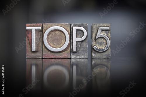 Photographie  Top 5 Letterpress