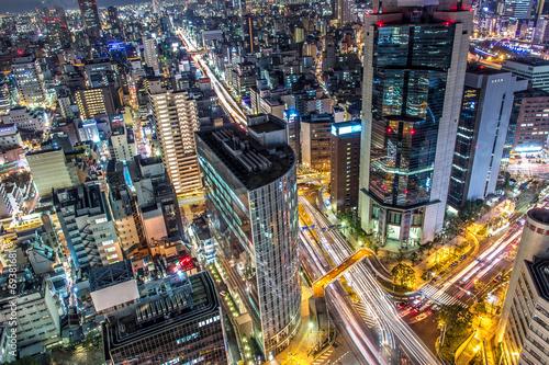 Obraz na płótnie 大阪の夜景