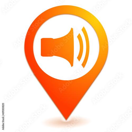 Fotografie, Obraz  volume sur symbole localisation orange