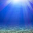 Sun rays under water