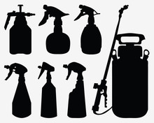 Black Silhouettes Of Sprayer On A White Background 2, Vector