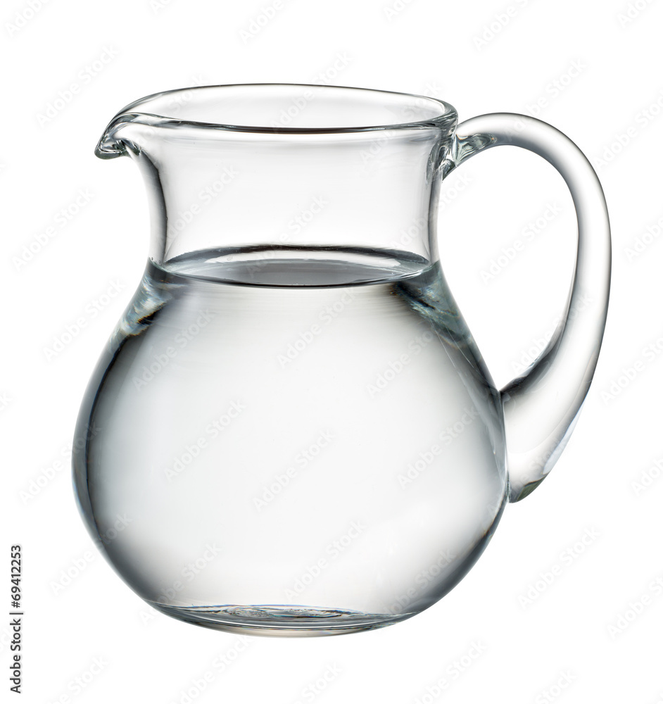 Fototapety, obrazy: Water pitcher isolated on white. With clipping path