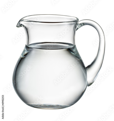 Fototapeta Water pitcher isolated on white. With clipping path obraz