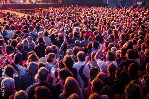 Tablou Canvas Foule public concert musique