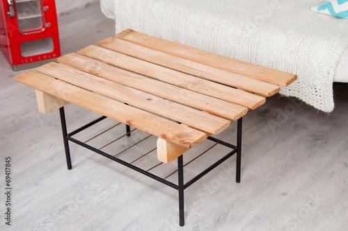 Table Basse En Bois De Palette Buy This Stock Photo And
