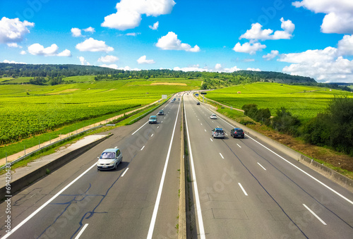 Autoroute Wallpaper Mural