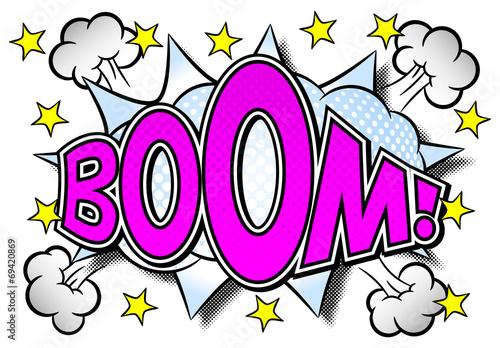 Fotografie, Obraz  comic sound effect boom