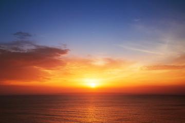 Beautiful cloudscape over the sea, sunset shot