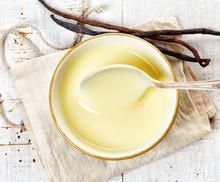 Bowl Of Vanilla Sauce