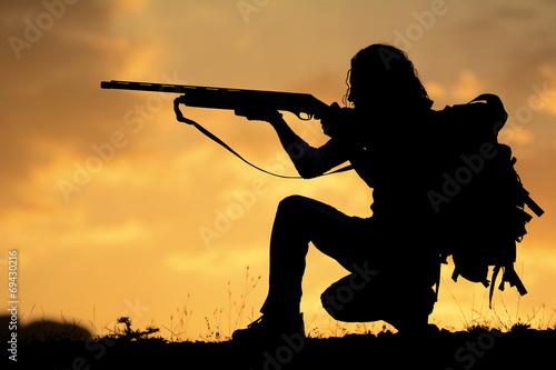 Tuinposter Jacht av tüfeği ile nişan almak