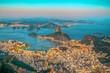 canvas print picture View from Corcovado Rio de Janeiro