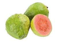 Pink Guava Fruit Isolated On W...