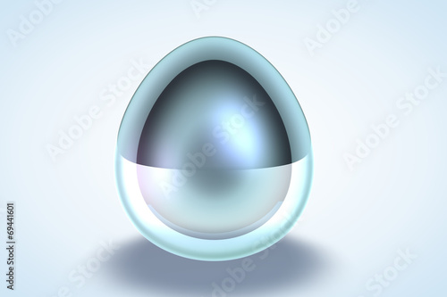 Fotografia, Obraz  Chrome Egg